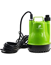 """FLUENTPOWER 1/4 HP Portable Utility Submersible Pump with 1500 GPH Flow for Water Remove, Drainage Sump Pump with 3/4"""" Adaptor for Standard Garden Hose"""