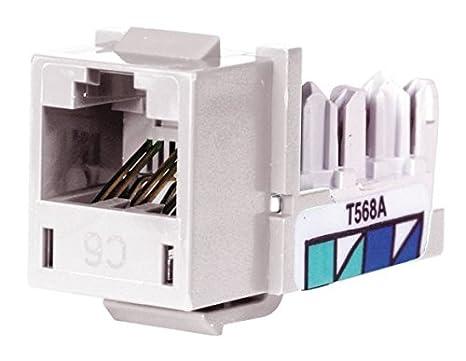 Admirable Hubbell Premise Wiring Hxj6W Jack White Cat6 Rj45 Amazon Com Wiring Digital Resources Funapmognl