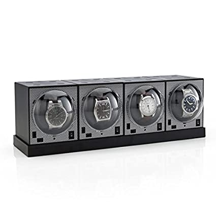 Set Of 4 Brick Watch Winders With Power Base by Brookstone