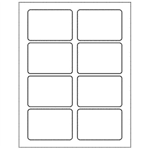 Pack of 6, 8.5 x 11 In. Sheet 8 Up Clamshell Labels - Clear Laser Printer for Tarts & ()
