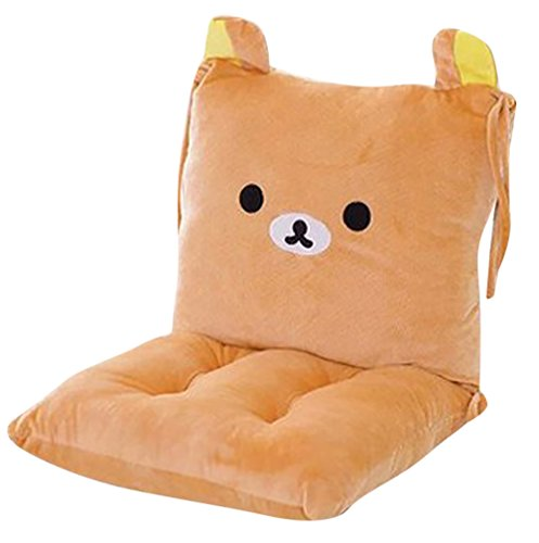Fan Back Kids Chair - ChezMax Joint Detachable Rocking Chair Seat Back Cushion Set with Ties for Kid Children Boy Girl Bed Play Room Cartoon Bear