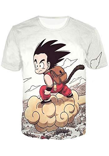 GoldBucket Unisex Fashion Hoodies 3D Dragon Ball Z Naruto More (Dragon 1 T-Shirt, S)