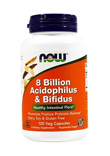 Now Foods, Acidophilus and Bifidus 8 Billion 240 Capsules (Best Dog Food For Dogs With Allergies 2019)