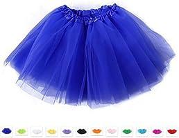 Tutu Fairy Ballet Layered Tulle Unisex Skirt Costume Adults - Blue