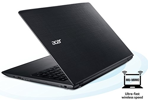 Acer Aspire E 15 E5-575-33BM 15.6-Inch FHD Notebook (Intel Core i3-7100U 7th Generation , 4GB DDR4, 1TB 5400RPM HD, Intel HD Graphics 620, Windows 10 Home), Obsidian Black