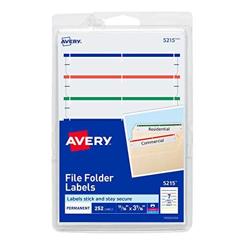Colored File Folder Labels - 2