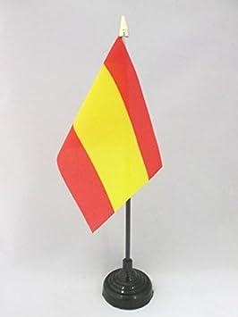 AZ FLAG Bandera de Mesa de ESPAÑA SIN Armas 15x10cm - BANDERINA de DESPACHO ESPAÑOLA SIN Escudo 10 x 15 cm Punta Dorada: Amazon.es: Hogar