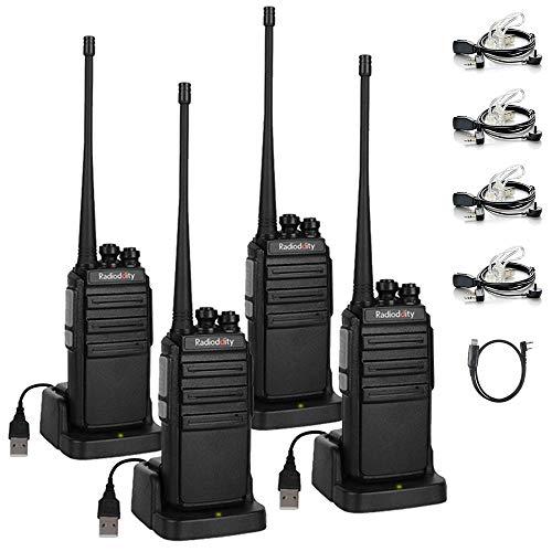 Radioddity GA-2S Walkie Talkies Professional UHF Ham Radio Rechargeable Handheld Two Way Radio with Micro USB Charging…