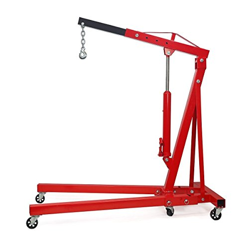9TRADING 2 Ton 4000 Lb. Folding Shop Crane Engine Motor Hoist Cherry Picker, Free Tax, Delivered Within 10 ()