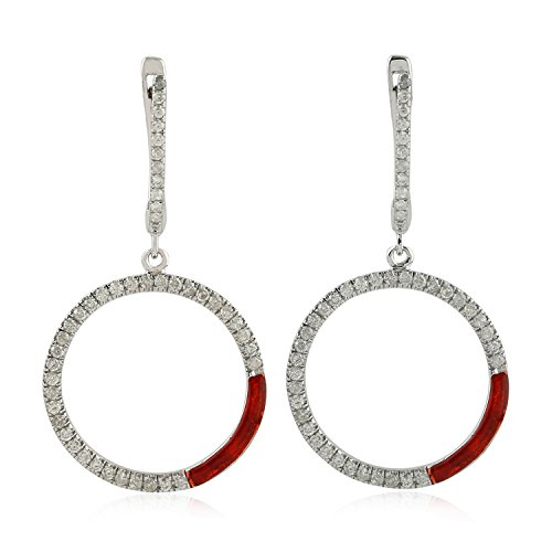 Exclusive Designer 14K Gold Dangle Earrings (Pave Diamond)