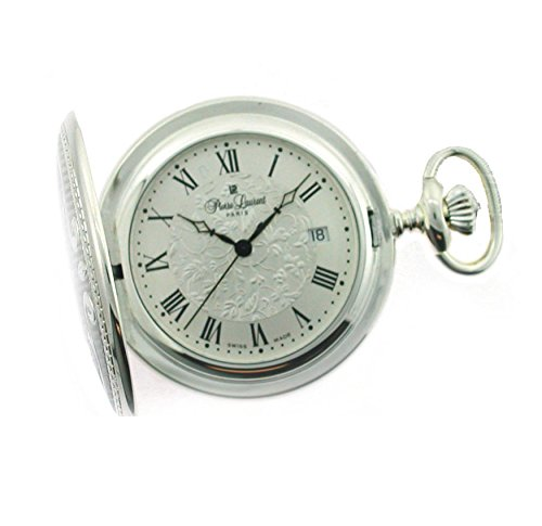Pierre Laurent Swiss Made Solid Sterling Silver Quartz Pocket Watch 5304 Solid Pocket Watch