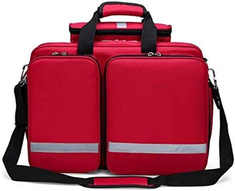 オフィス、家庭、車、学校、救急、サバイバル、キャンプ、狩猟、スポーツ用の大容量緊急サバイバルバッグ応急処置キットバッグ, Red