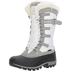 Kamik Snowvalley- Botas de nieve para mujer, Blanco (White WH2), 7 M US