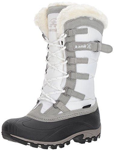 Kamik Women's Snowvalley Winter Snow Boot ,White WH2,9 M - Boots Waterproof Women Snow