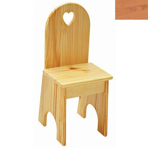 Little Colorado 022NAHT Solid Back Heart Kids Chair in Natural