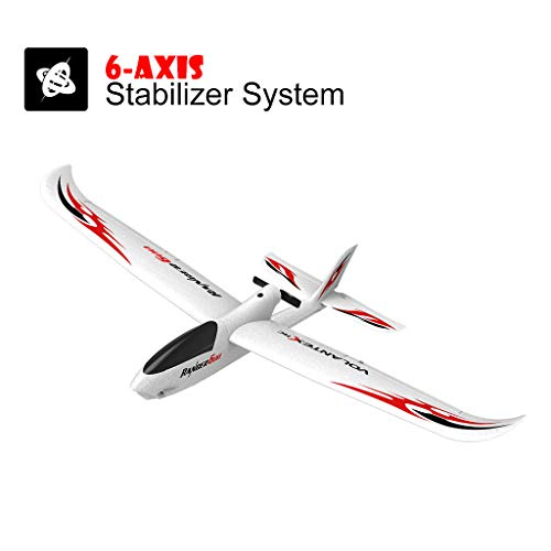 Race Remote Control Airplane, 2.4GHz 6-Axis Gyro RC Glider Easy to Fly 761-2 RTF Plane Outdoor Aircraft Easy to Fly for Beginners (White)