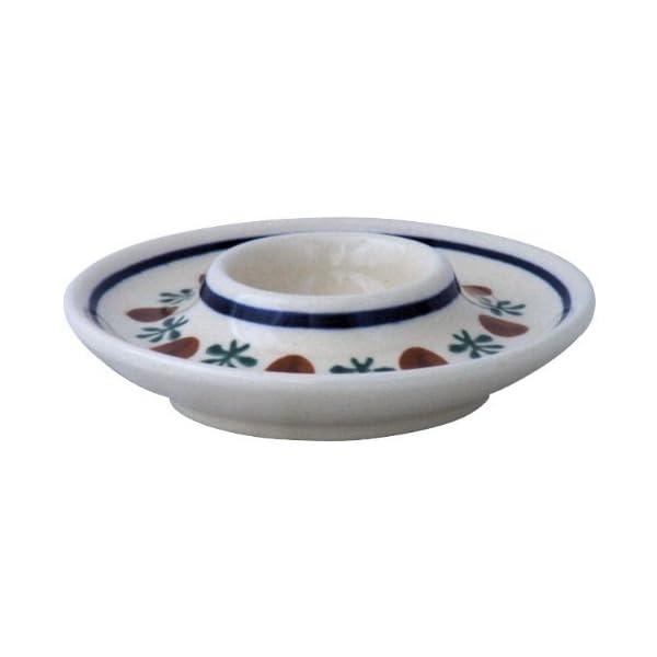 Boleslawiec Pottery Egg cup, Original Bunzlauer Keramik, Decor 41
