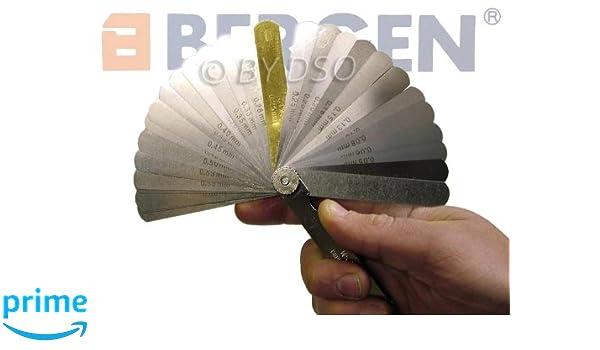 BERGEN Calibre sentir imperial y metrico 32 hojas profesional BER5811