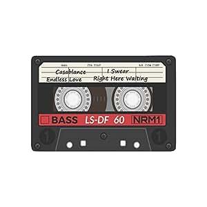 interestprint Retro casete de audio de plástico antideslizante alfombrilla de puerta decoración del hogar, música de interior al aire libre Entrada Felpudo de goma Felpudo 23.6x 15,7pulgadas
