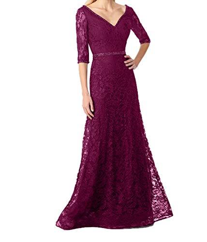 A Rock Blau Brautmutterkleider Festlichkleider Linie Charmant Damen Lang Navy 2018 Dunkel Fuchsia Promkleider Abendkleider 6qHSPzw