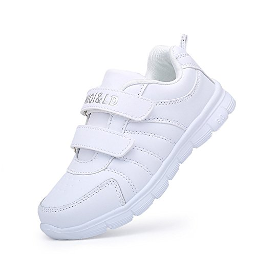 Children Shoes Girls Sneakers for Boys Shoes Sport Mesh Breathable Student Casual Shoes for School Sneakers A33(Leather) 3.5 ()