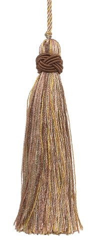 "Set of 10 Decorative Lt Olive Green, Lt Gold 4"" Tassel, Impe"