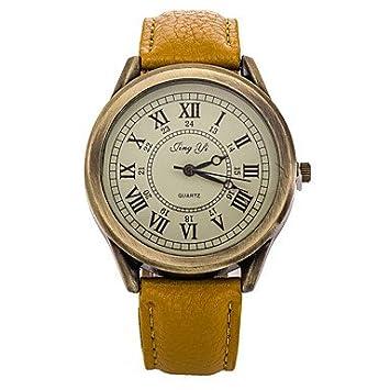 Herren Damen Modeuhr Quartz Armbanduhren Für Den Alltag Leder Band
