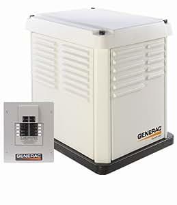 Generac 5837 CorePower Series 7,000 Watt Air-Cooled Natural Gas/Liquid Propane Powered Standby Generator with Transfer Switch