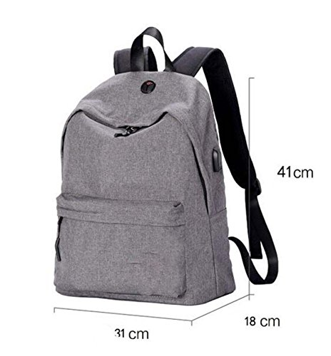 Large Shoulder Travel Computer Grey Capacity Sports Leisure Business Bag Backpack gSwqf1