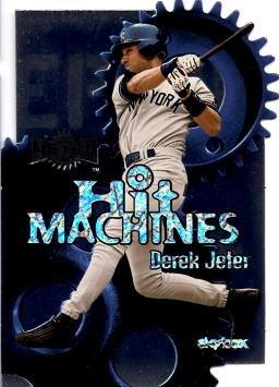2000 Fleer Skybox Metal Hit Machines 7 Derek Jeter Baseball Card - Near Mint to Mint