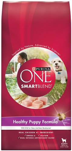 Purina One Smart Blend Healthy Puppy Formula Dog Food, 4-Pound Bags (Pack of 6), My Pet Supplies