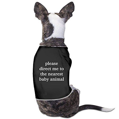 - Skkoka Fashion Sleeveless Pet Supplies Dog Cat Clothes Baby Animal Pet Apparel Clothing S Black