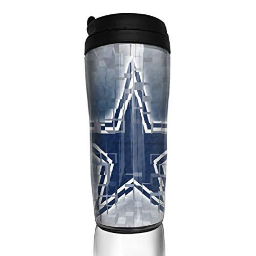 Dal_las Cow_boys Coffee Cup Football Sports Coffee Cups With Lids Home Travel Mug Office Tea Bottle Hand Star_bucks K Cups 12 OZ