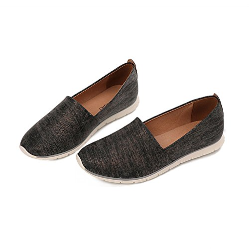 Light Black Pointed Comfortable Casual Summer Shoes Breathable Shoes Black Flat Yangjiaxuan RpPqW