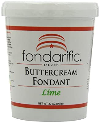 Fondarific Buttercream Lime Fondant, 2-Pounds