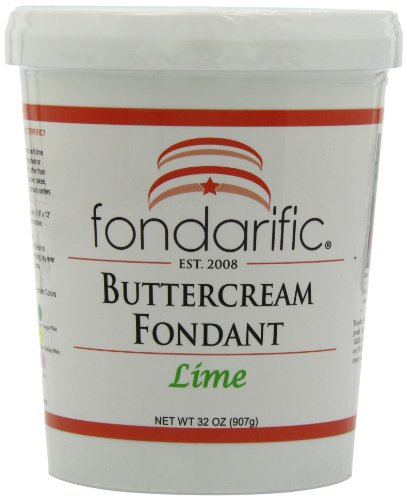 Fondarific Buttercream Lime Fondant, 2-Pounds by Fondarific