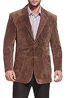"BGSD Men's ""Calvin"" Two-Button Suede Leather Blazer"