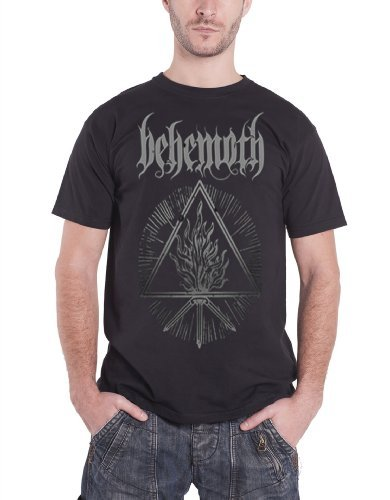 Behemoth Mens T Shirt Black Furor Divinus band logo Official