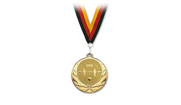 Medalla futbolín oro con abrazaderas: Amazon.es: Deportes y aire libre