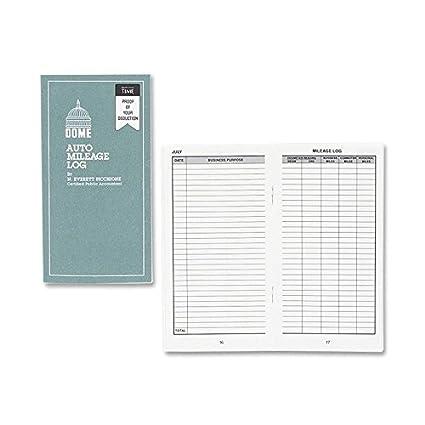 amazon com dom770 dome auto mileage log office products