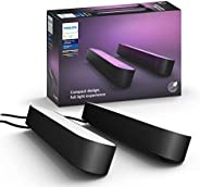 Philips Hue 78202/30/U7 Play White & Color Ambiance Paquete doble de barra de luz, LED integrado, 42W, N