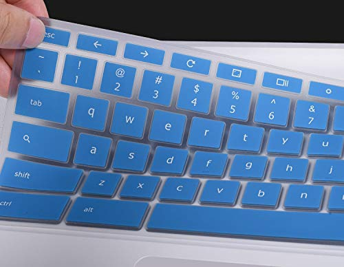 Keyboard Cover Compatible 2019 2018 ASUS Chromebook C523NA 15.6 / ASUS Chromebook C423NA 14 / ASUS Chromebook Flip C302 C302CA-DH54 C302CA-DHM4 12.5 Chromebook, Blue
