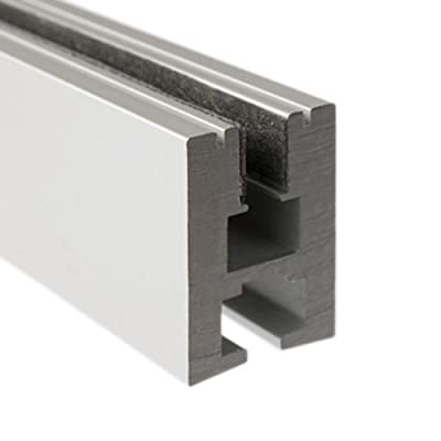 Klus B1890 - 39.4 in. Non-Anodized Aluminum Mounting Channel - EX - ALU Profile - For LED Tape Light