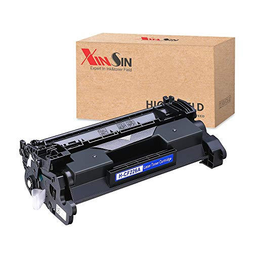 HP 26A (CF226A) Yield Toner Cartridge Replacement for HP Laserjet Pro M402 M426, XINSIN Black 4500 Pages Toner for HP Laserjet Pro M402n M402dn M402dw M402d MFP M426fdw M426fdn M426dw Printer 1 Pack