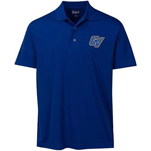 NCAA Grand Valley State University Adult Men Burke Short sleeve Solid Polo, X-Large, - Valley Oxford
