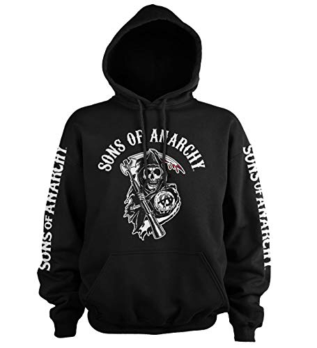 (Officially Licensed Merchandise Sons Of Anarchy Logo Hoodie (Black), Large)