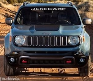 JEEP RENEGADE WINDSHIELD DECAL (WHITE DEFAULT COLOR)