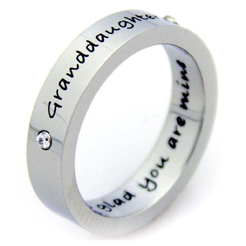 Granddaughter Ring - I'm So Glad You're Mine - Poesy Ring - Granddaughter Jewelry - Gifts For Granddaughter ()