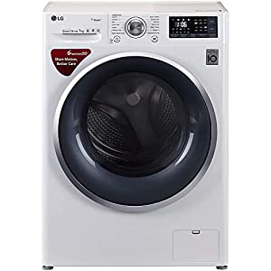 LG 7 kg Inverter Fully-Automatic Front Loading Washing Machine (FHT1207SWW.ABWPEIL, Blue and White, Inbuilt Heater)