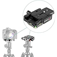 Kamisafe KINGJOY KH-6251 Universal Aluminum Quick Release Plate QR Plate Adapter 1/4 and 3/8 Screws for DSLR Camera Camcorder Tripods Monopod Ball Head Manfrotto 501HDV 503HDV 701HDV 577/519/561/Q5